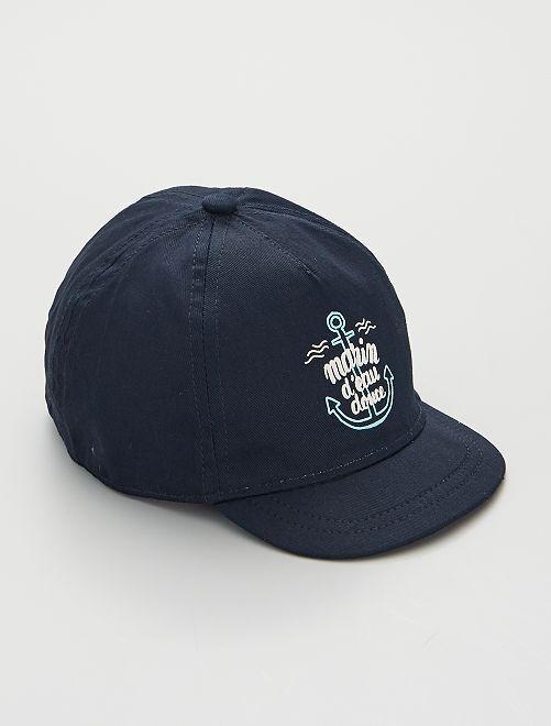 Cappellino stampato                                                                                                                 BLU/bianco