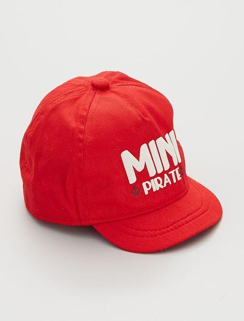 Cappellino stampato                                                                                                                 ROSSO