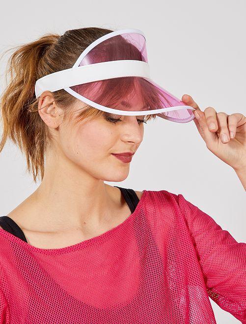 Cappellino trasparente                                         rosa
