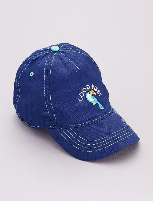 Cappellino 'tucano' 'good vibes'                             blu cobalto