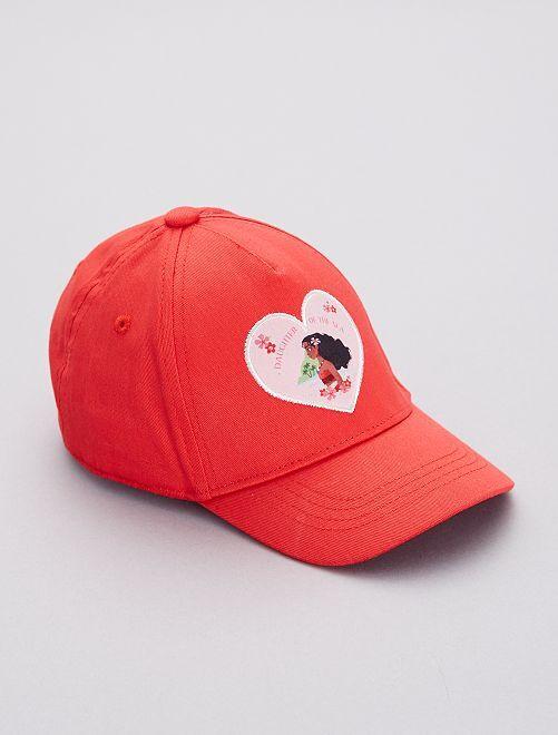 Cappellino 'Vaiana'                             ROSSO Infanzia bambina