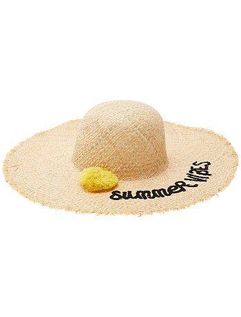 Cappello a falde larghe con pompon - Kiabi