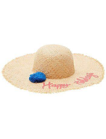 Donna dalla 38 alla 52 - Cappello a falde larghe con pompon - Kiabi