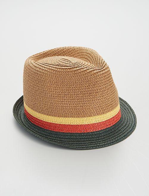 Cappello borsalino                     BEIGE/verde