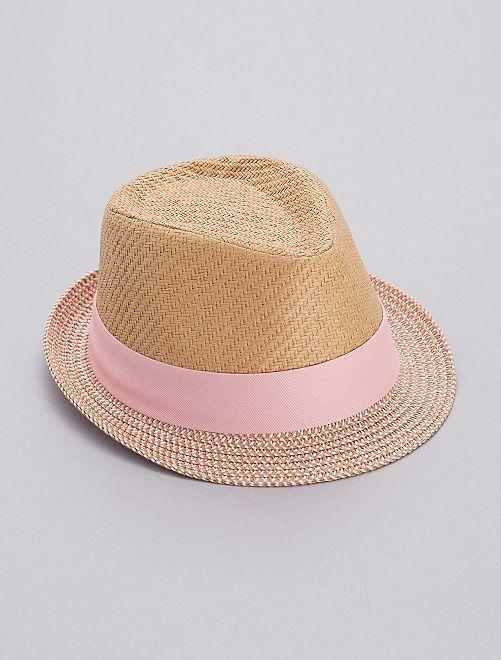 Cappello Borsalino bicolore                             rosa Infanzia bambina