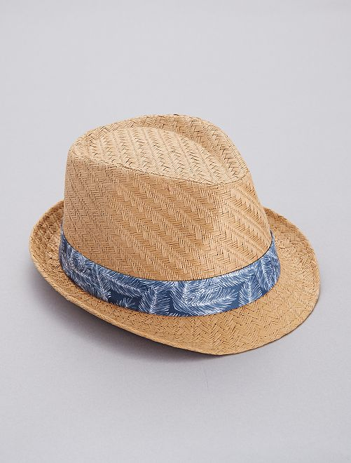 Cappello Borsalino 'foglie'                             BEIGE Uomo