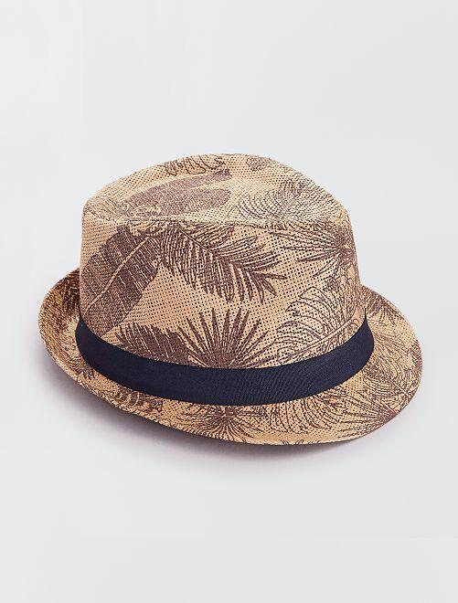 Cappello borsalino stampato                                         castano
