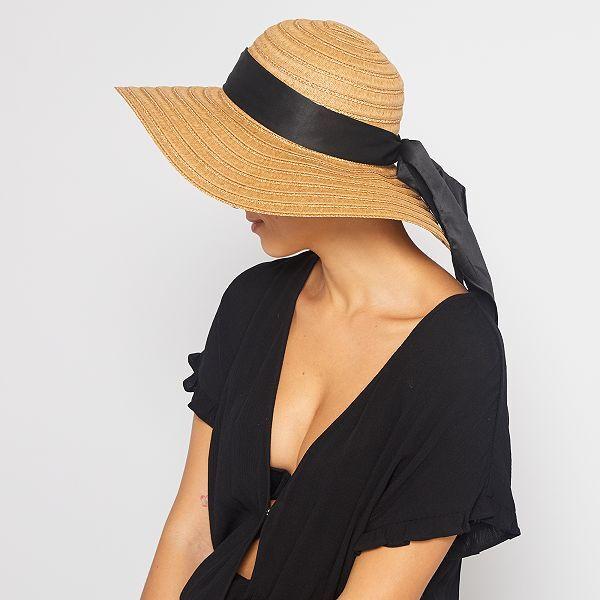Cappello con nastro Donna - MARRONE - Kiabi - 8,00€