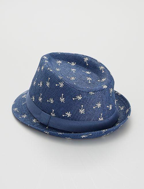 Cappello con stampa 'palme'                             BLU