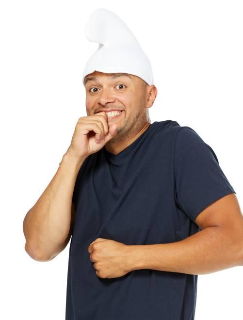 Cappello da folletto blu                             bianco