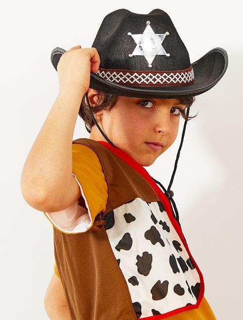 Cappello da sceriffo bambino                     nero