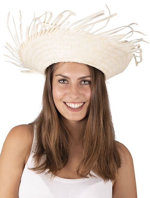 Cappello di paglia Hawaï                             beige
