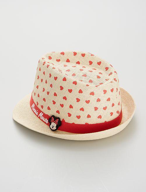 Cappello di paglia 'Minnie'                             ROSSO