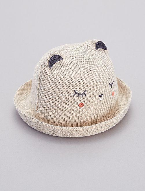 Cappello effetto paglia morbida                             BEIGE Neonata