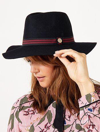 Cappello fedora lana fascia fantasia - Kiabi