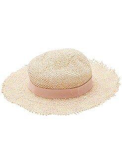 Accessori - Cappello paglia a falde larghe - Kiabi