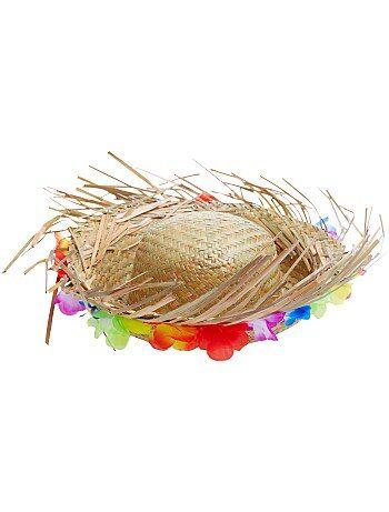 Accessori - Cappello paglia fiori hawaiani - Kiabi b0323717bd58