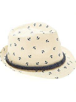 Bambino 10-18 anni - Cappello paglia stile Panama stampato - Kiabi