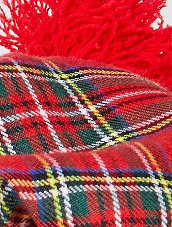 Cappello scozzese con capelli finti Accessori - rosso ...