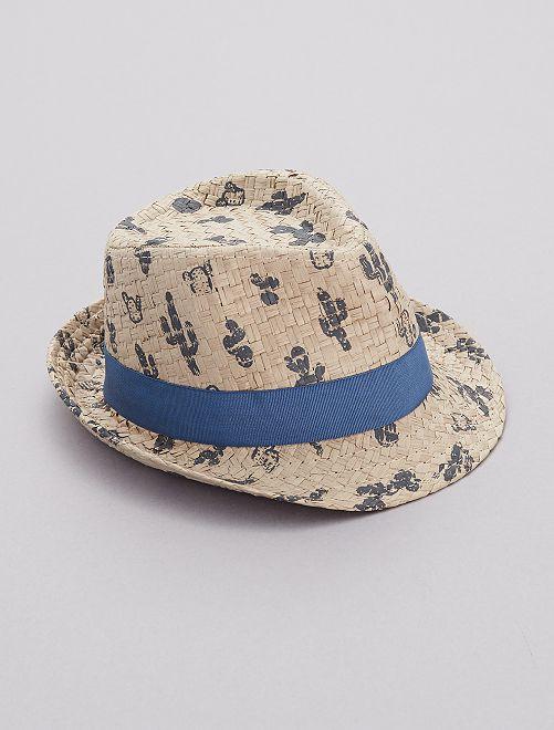 Cappello stampa 'cactus'                             BLU Neonato
