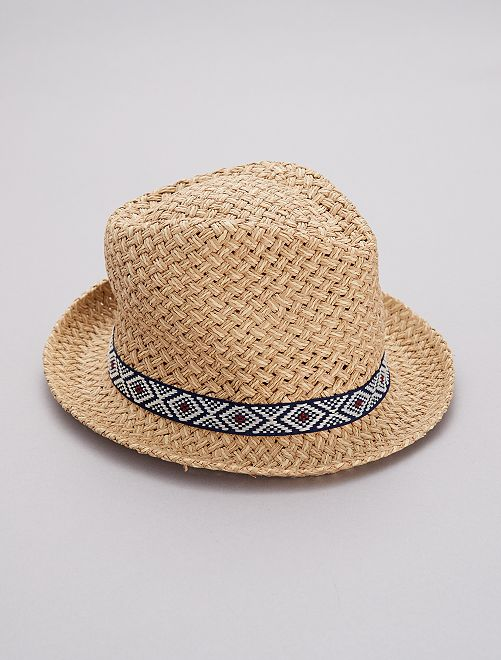 Cappello stile Borsalino                             BLU Uomo