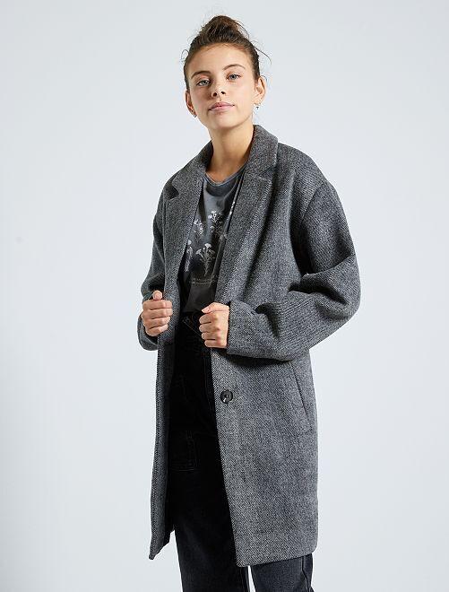 Cappotto effetto lana                                         GRIGIO