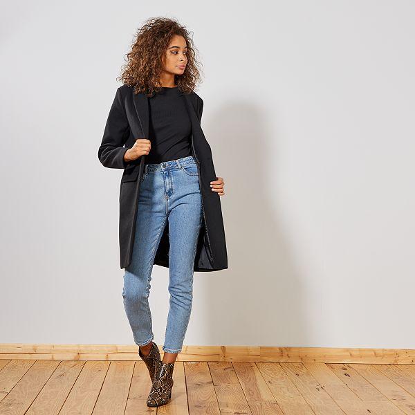 buy online 9a89d 86a19 Cappotto effetto lana Donna - nero - Kiabi - 40,00€