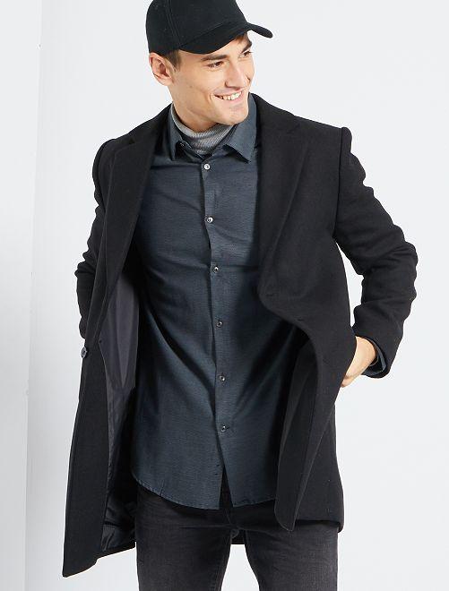 Cappotto effetto lana                                                                 nero