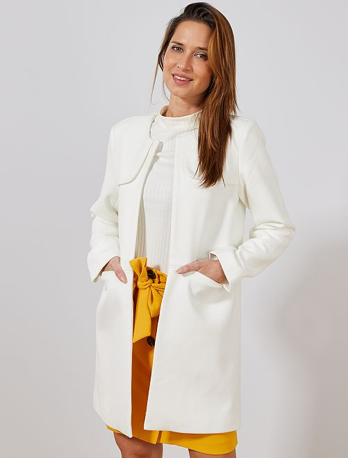 Cappotto elegante girocollo                                         bianco neve Donna