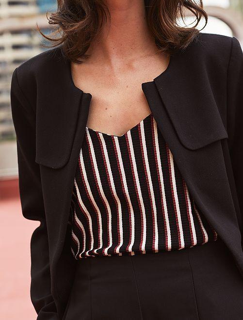 Cappotto elegante girocollo                                         nero Donna