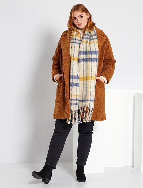 Cappotto in maglia bouclé                                         MARRONE