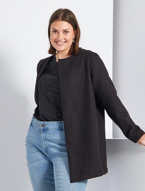 Cappotto leggero stile lana                             nero