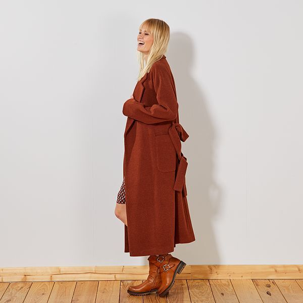 Cappotto lungo effetto 'vestaglia'