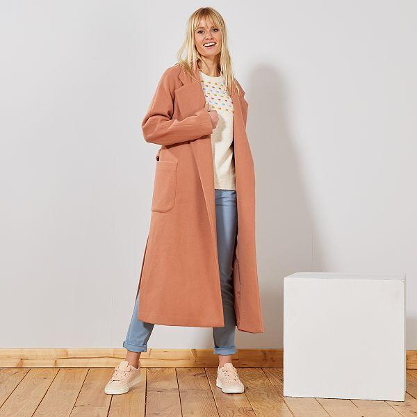 uk availability 71529 b1c15 Cappotto lungo effetto 'vestaglia' Donna - ROSA - Kiabi - 45,00€