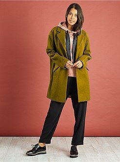 Donna dalla 38 alla 52 Cappotto oversize con lana