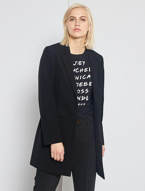 Cappotto stile blazer                                                                 nero