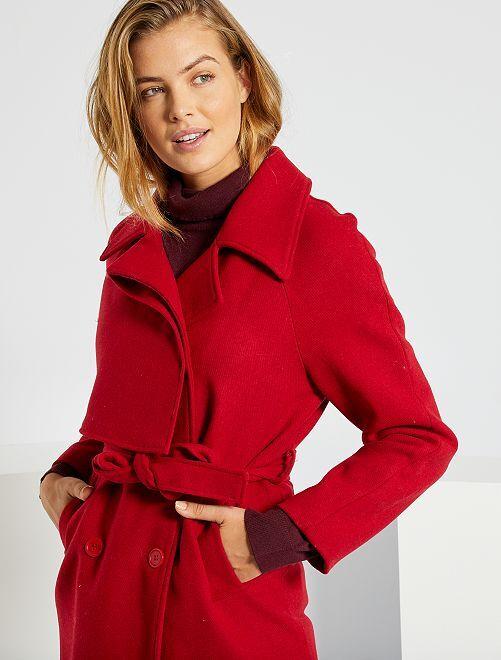 Cappotto taglio trench                             rosso