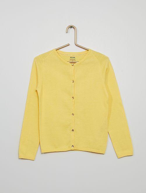 Cardigan eco-sostenibile                                                                                                                                                                             giallo dorato
