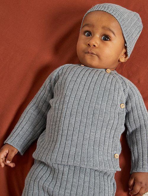 Cardigan in lana 'La Manufacture de Layette'                                         grigio