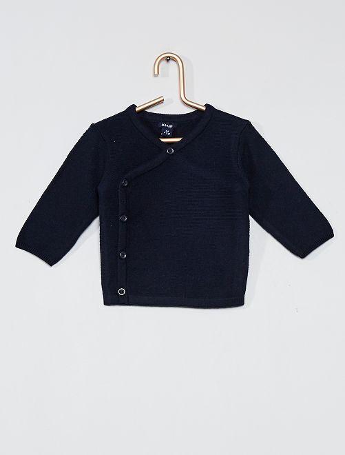Cardigan in maglia ''eco-sostenibile''                                         BLU