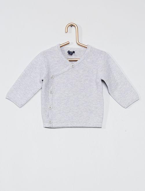 Cardigan in maglia ''eco-sostenibile''                                         GRIGIO
