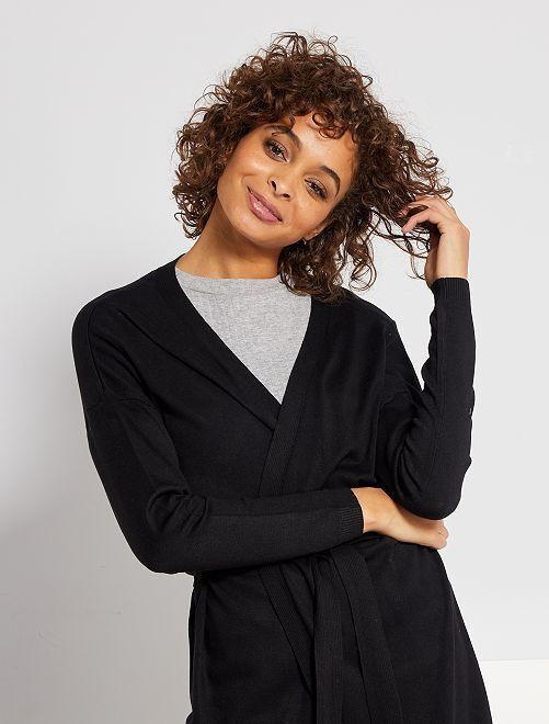 Cardigan in maglia leggera                                                                 nero