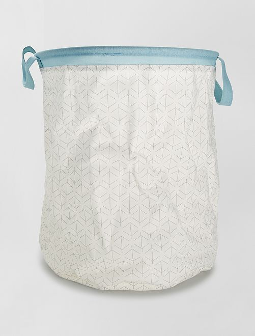 Cesta per il bucato                             bianco/blu