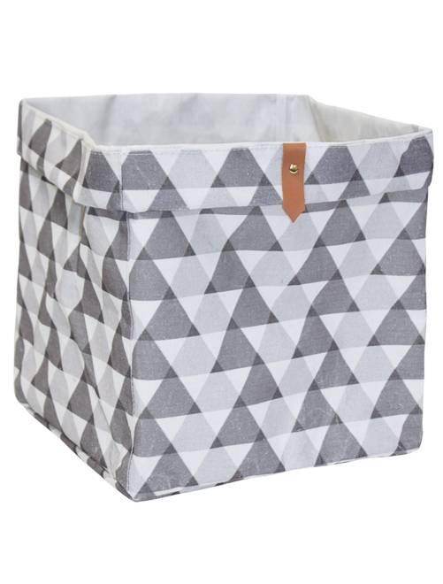 Cesta portaoggetti forma cubo                                                                                         grigio bianco Casa