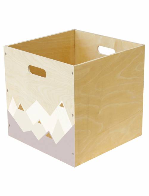 Cesta portaoggetti legno stampato                                          Casa