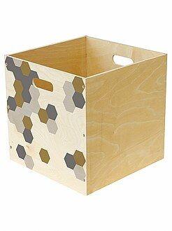 Sistemare - Cesta portaoggetti legno stampato - Kiabi