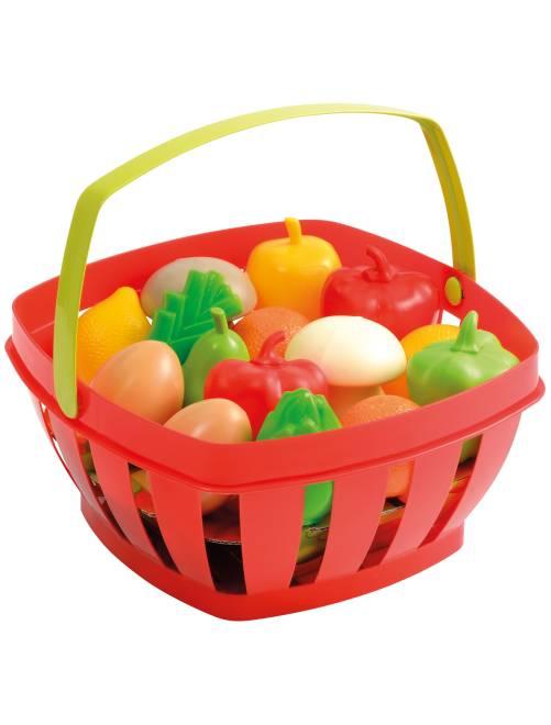 Cesto frutta e verdura                             ROSSO Infanzia bambina