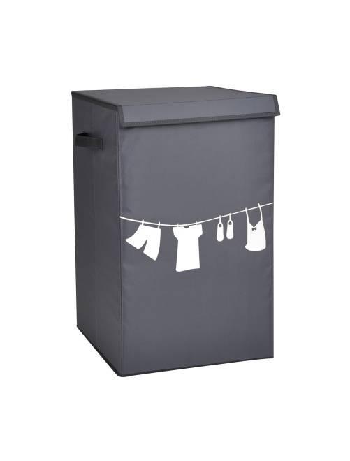 Cesto portabiancheria tessuto stampato                             grigio Casa