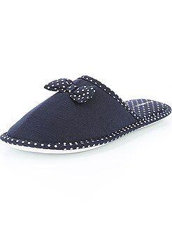 Pantofole - Ciabatte fiocchi e pois