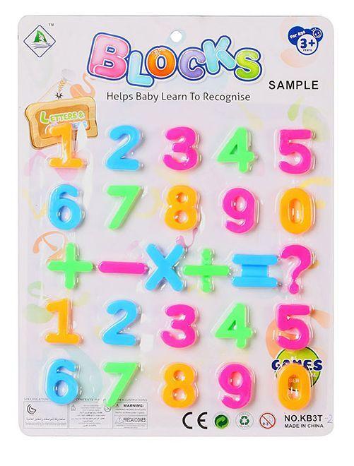Cifre magnetiche multicolori                             multicolore